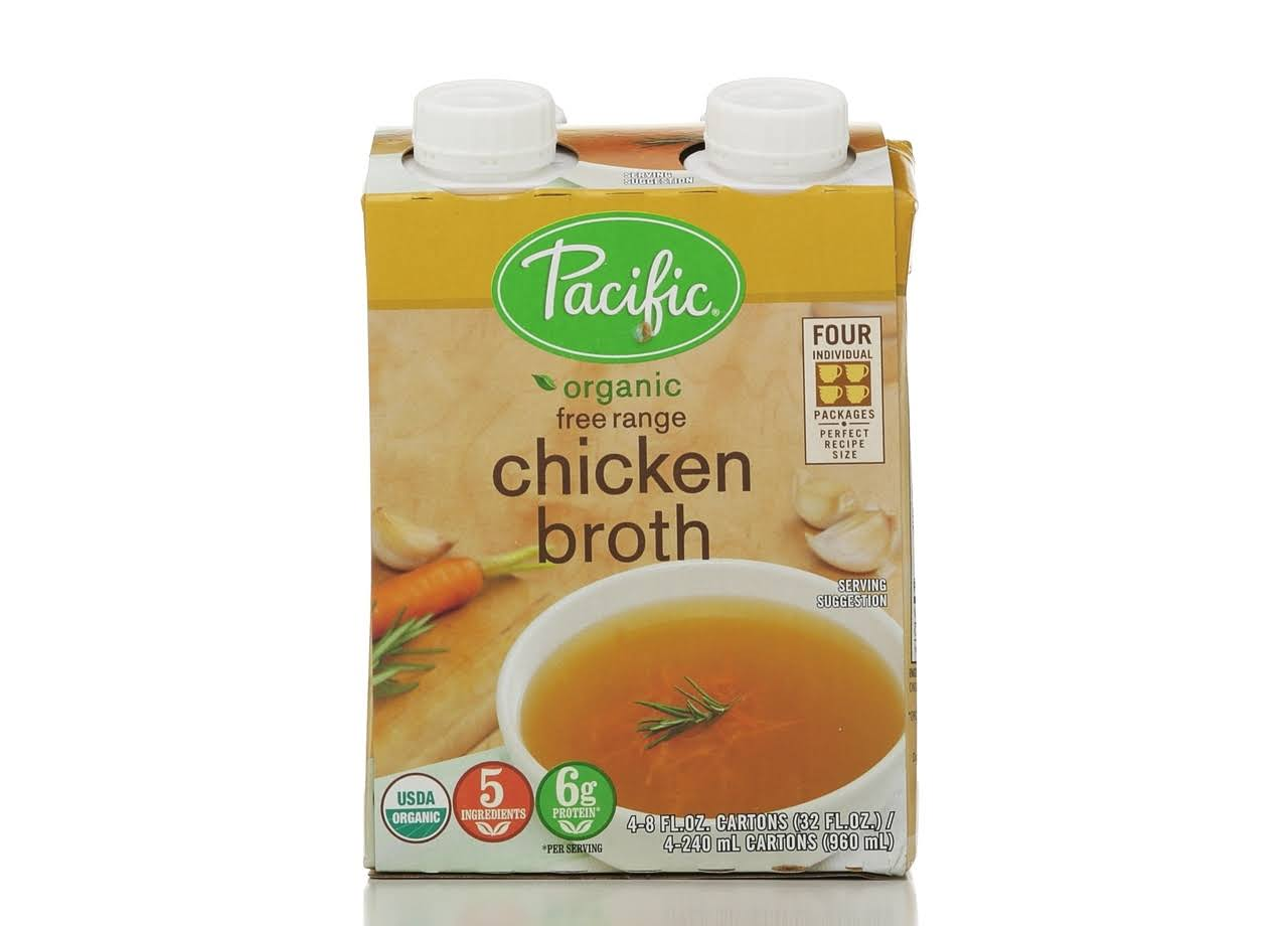 Pacific Foods Organic Free Range Chicken Broth, 8-Ounces