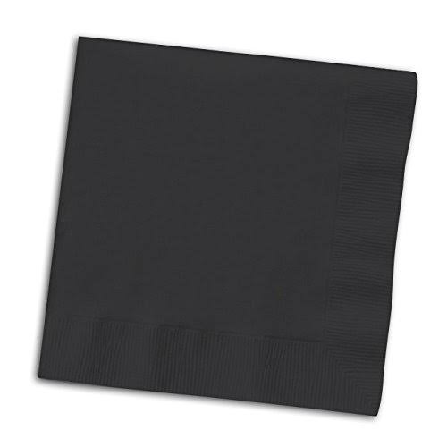 Creative Converting Paper Napkins, 3-Ply Luncheon Size - Black Velvet