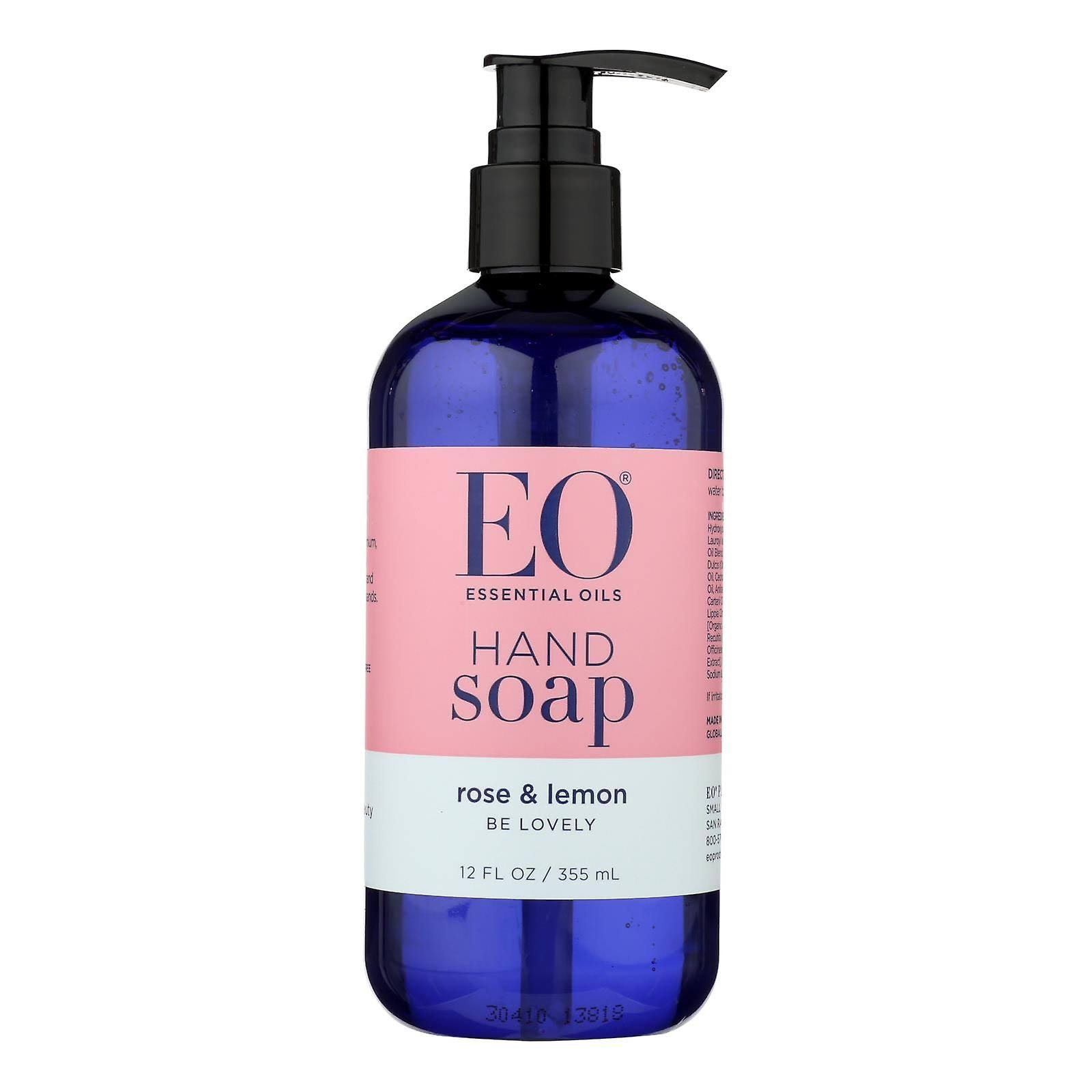 EO Products Liquid Hand Soap Rose & Lemon 12 fl oz