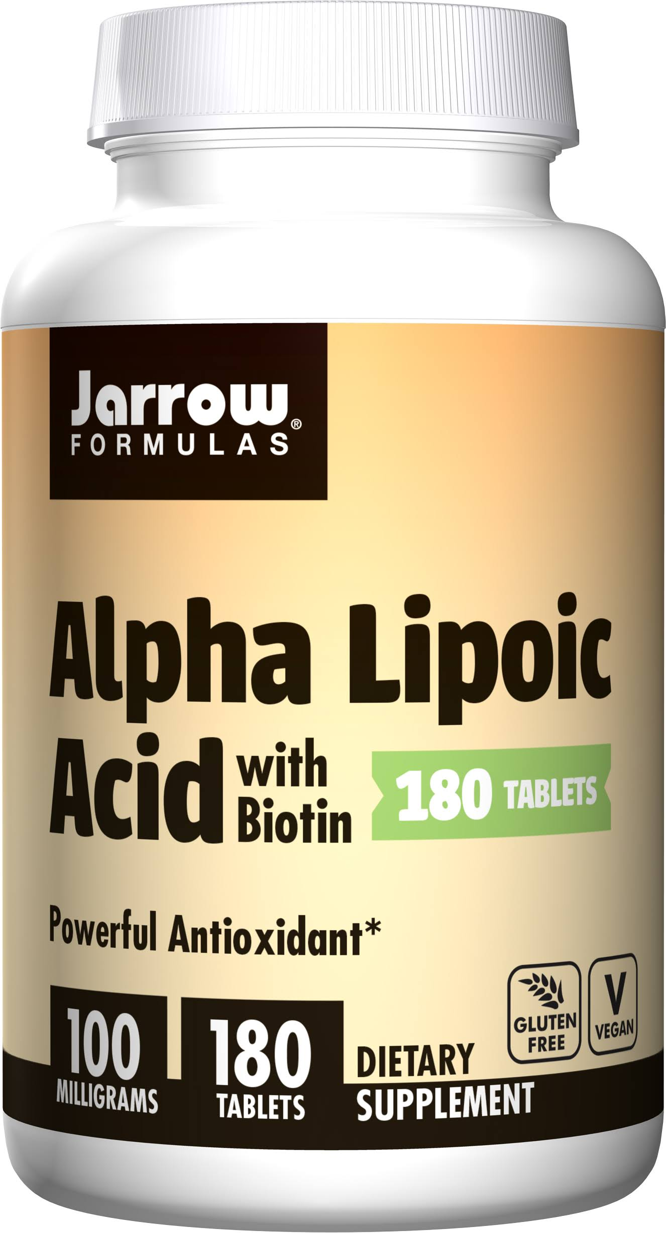 Jarrow Formulas Alpha Lipoic Acid with Biotin Supplement - 180 Tablets