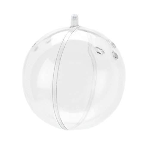 Plastic Ornament Ball with Holes - 80mm