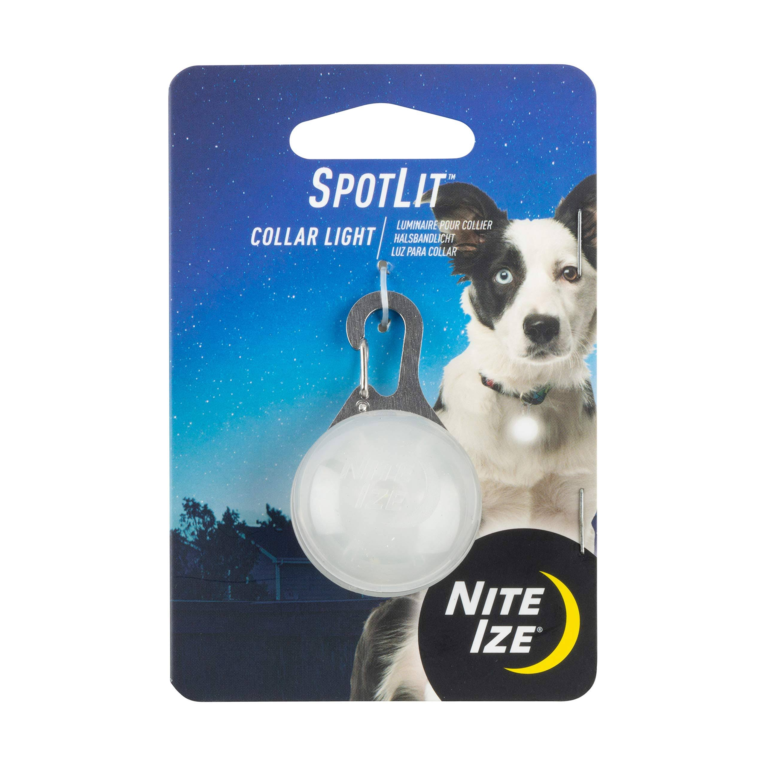 Nite Ize Spotlit Dog Collar Light, White