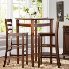 Wayfair Dining Room Tables by Chair Charlton Home Halo 3 Piece Pub Table Set Reviews Wayfair