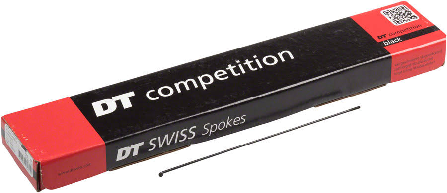 DT Swiss Competition Spoke: 2.0/1.8/2.0mm 291mm J-Bend Black Box of 100
