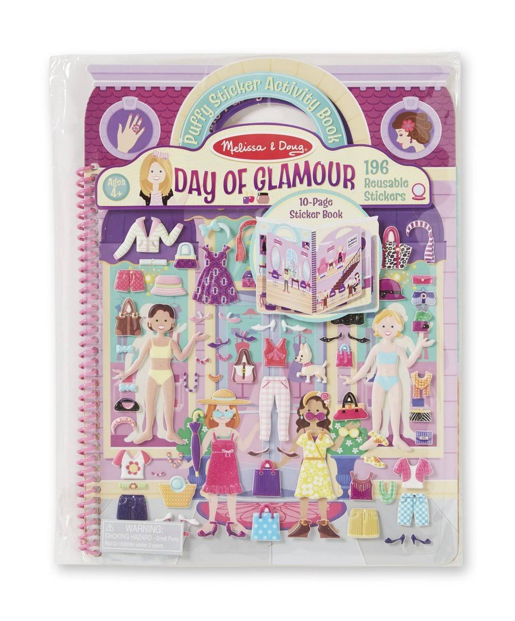 Melissa and Doug Puffy Sticker Activity Book - Day of Glamour