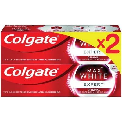 Colgate Dentifrice Max White Expert Cool Toothpaste Pack - 2pk, 75ml