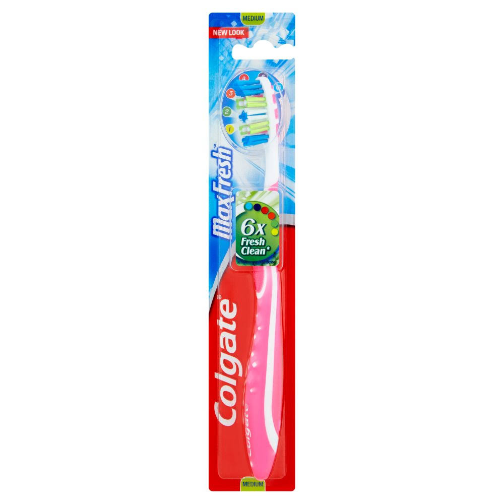 Colgate Max Fresh Toothbrush - Pink, Medium