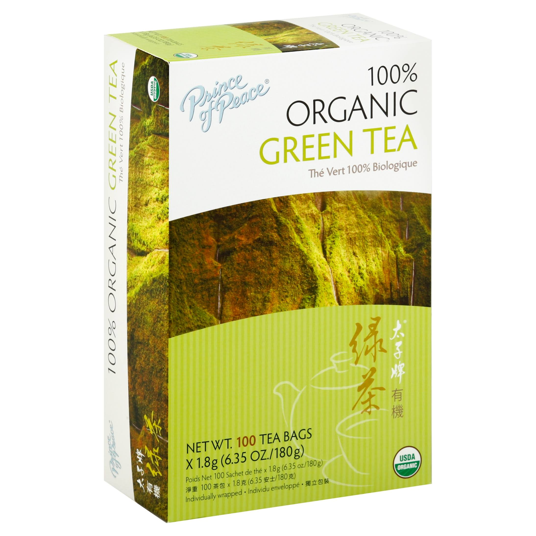 Prince of Peace 100% Organic Tea Green Tea - 100 Pack