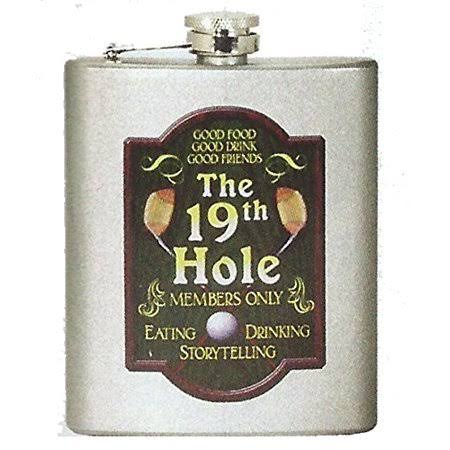 Spoontiques 15654 7 oz Hip Flask - Golf