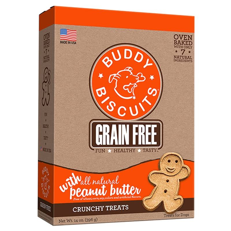 Cloud Star Grain Free Buddy Biscuits - Homestyle Peanut Butter