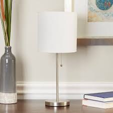 Mainstays Floor Lamp With Reading Light Assembly by Mainstays Stick Table Lamp With Shade Cfl Bulb Included Walmart Com