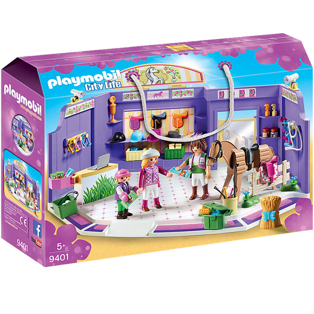 Playmobil 9401 City Life Horse Tack Shop Set