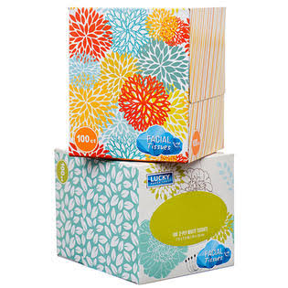 Facial Tissue 100 ct 2 Ply Assorted Design Wholesale, Cheap, Discount, Bulk