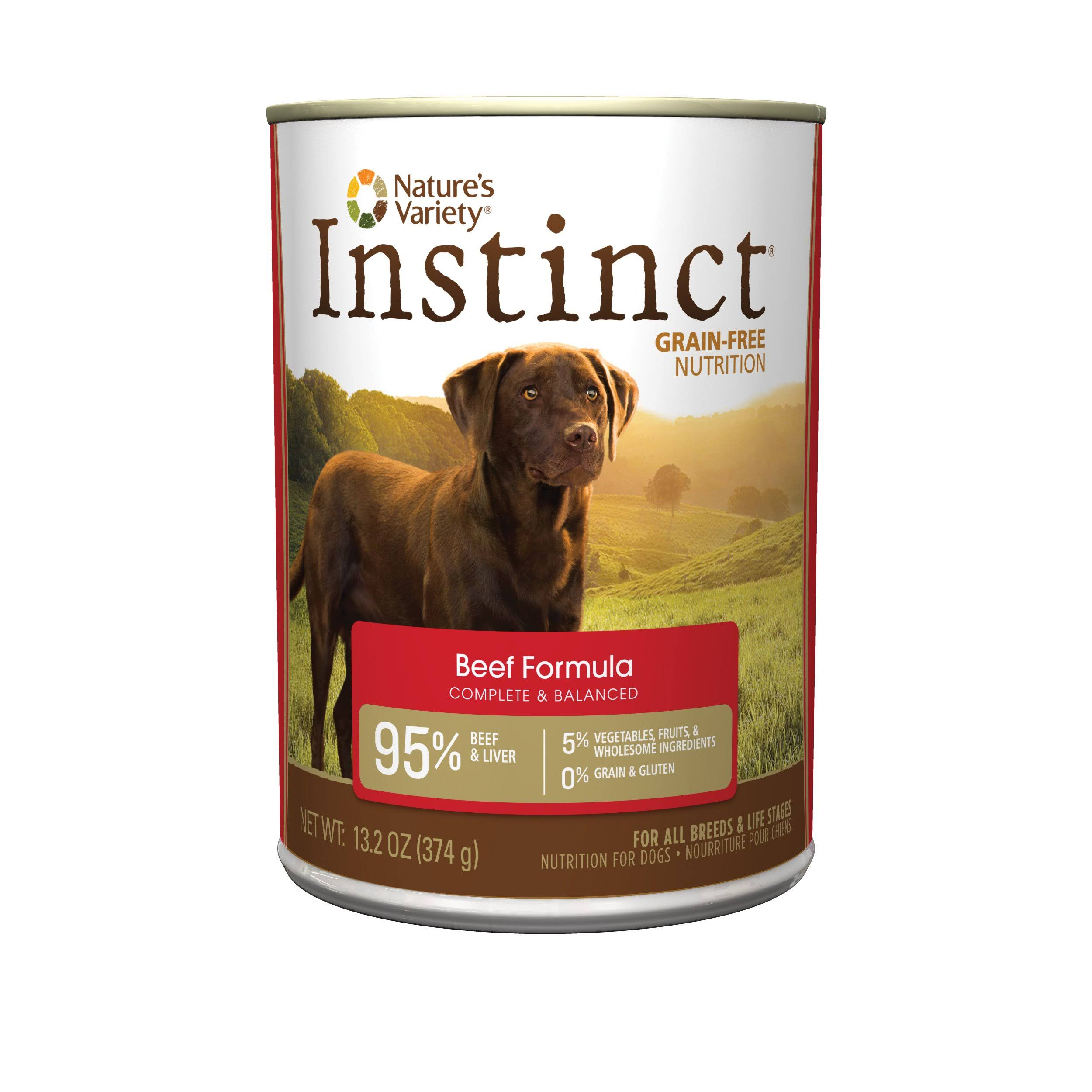 Nature's Variety Instinct Grain-Free Canned Dog Food - Beef, 13.2-oz, 12 Pack