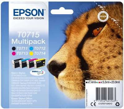 Epson T0715 4-Cartridge Multipack