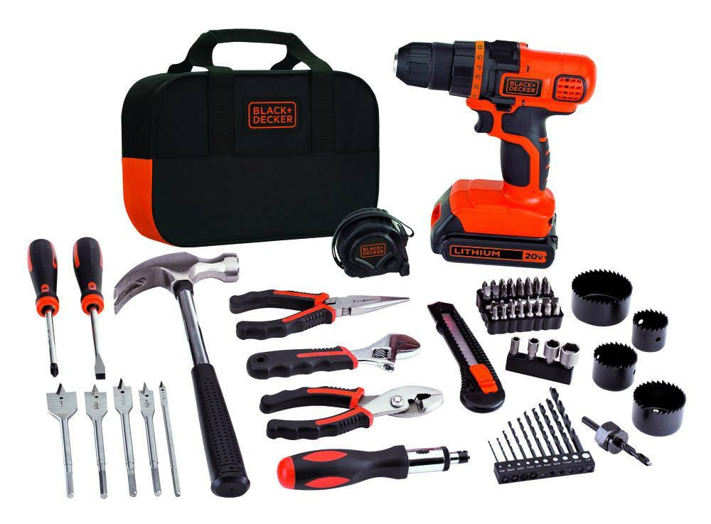Black & Decker 20v Cordless Drill & Project Kit