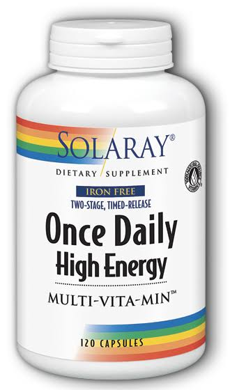 Solaray Once Daily Iron Free Two Stage Timed Release Vitamin - 120ct