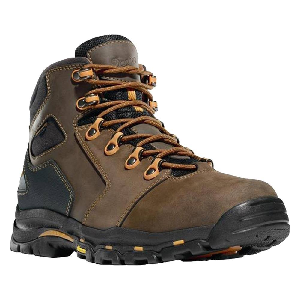 Danner Men's Vicious Plain Toe Work Boot - Brown/Orange, 10.5 US