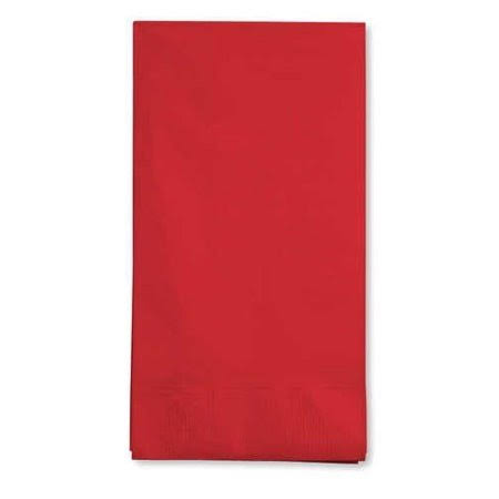 Creative Converting Touch of Color Paper Guest Napkin - 16 Count, 3 Ply, Classic Red
