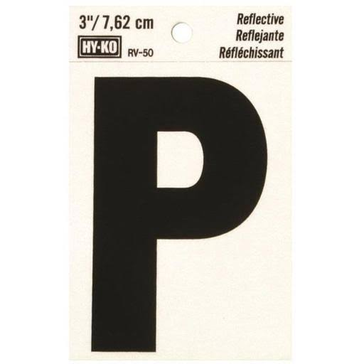 Hy-Ko Products Reflective P House Letter