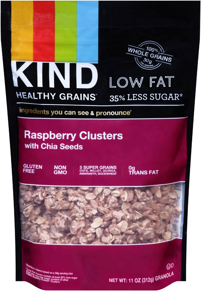 Kind Bar Healthy Grains Clusters - Raspberry with Chia Seeds, 11oz