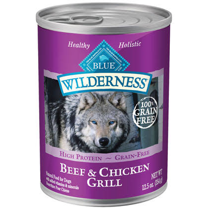 Blue Buffalo Wilderness Grain-Free Canned Dog Food - Beef & Chicken Grill, 12.5oz