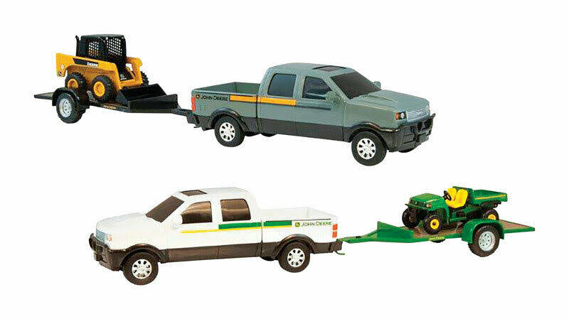 Tomy John Deere Pickup Hauling Car Toy Set