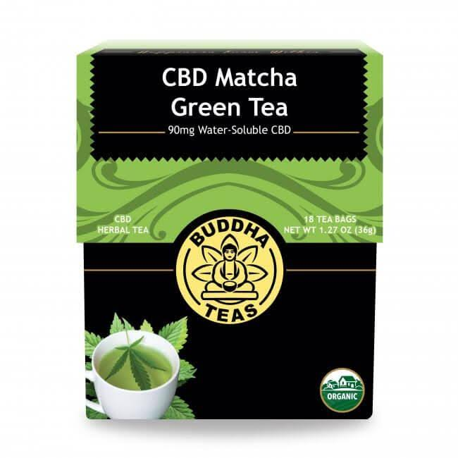 Organic Matcha Green Tea Blend Hemp Extract - 18 Bleach Free Tea Bags