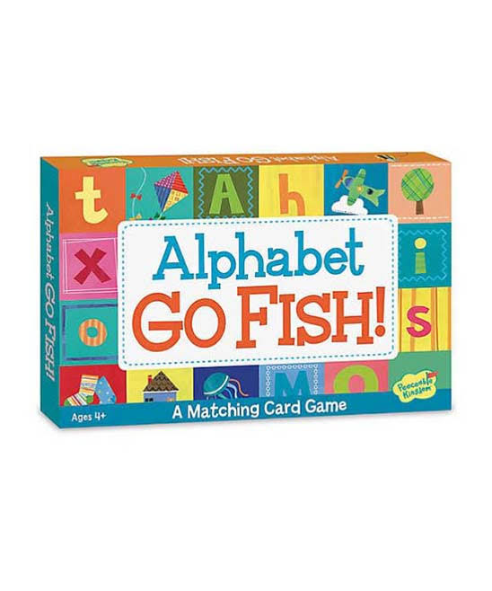 Peaceable Kingdom Alphabet Go Fish Matching Card Game