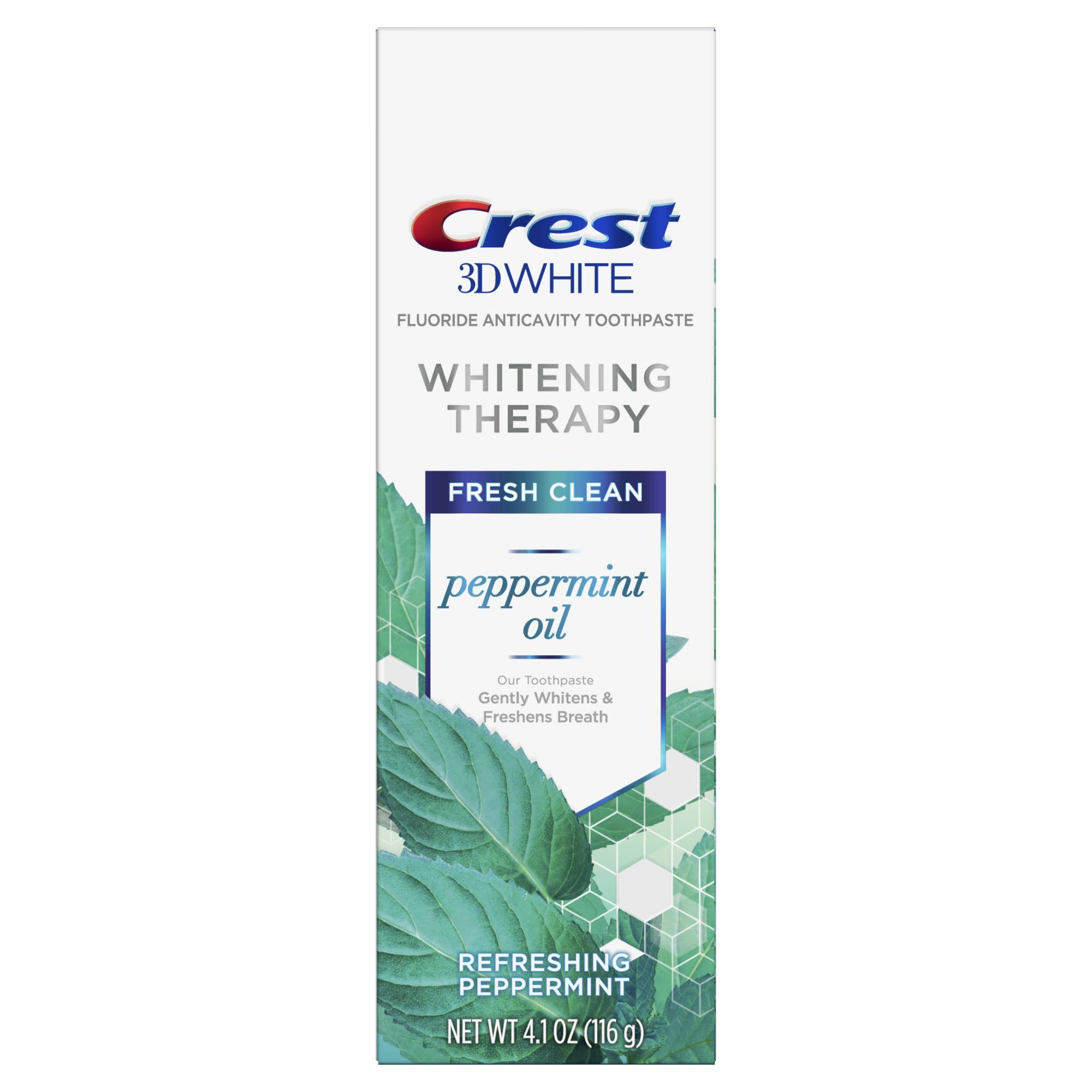 Crest 3D Peppermint Oil Whitening Therapy Toothpaste - 4.1oz