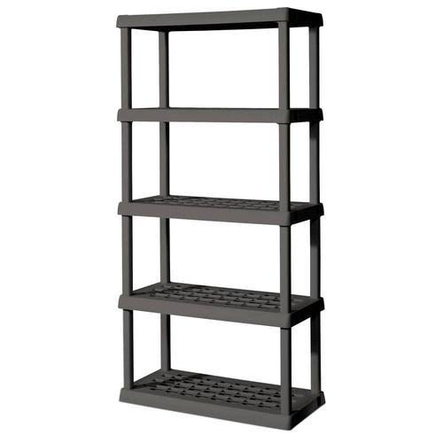 Sterilite 5 Shelf Unit - Flat Gray