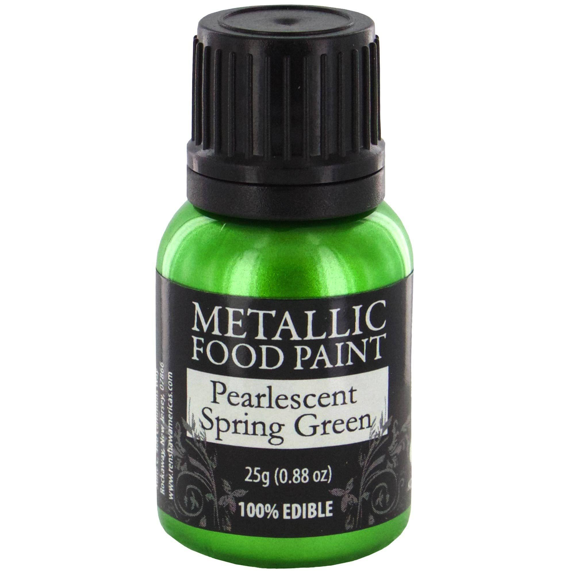 Metallic Food Paint - Pearlescent Spring Green, 25g