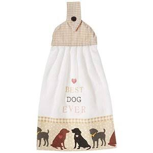 Kay Dee Designs Best Dog Ever Tie Kitchen Towel White/Multi