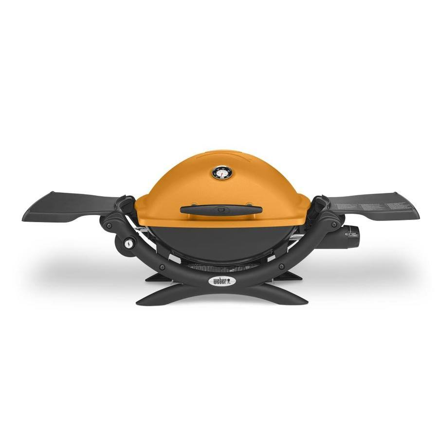 Weber Q1200 Liquid Propane Grill - Orange