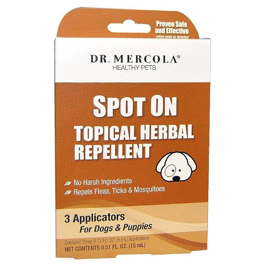 Dr Mercola Spot on Topical Herbal Dog and Puppies Repellent - 3 Applicators