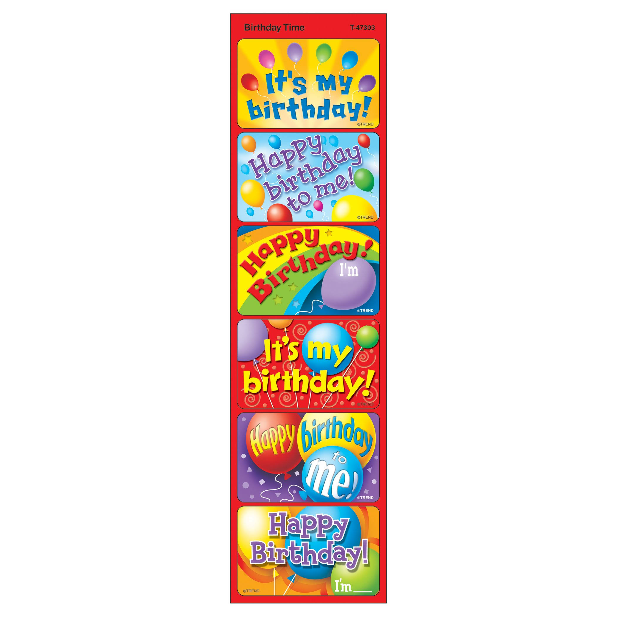 Trend Enterprises Applause Stickers - Birthday Time