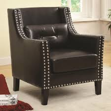 Accent Chairs Living Room Target by Chair Coaster 902224 Black Leather Accent Chair Steal A Sofa