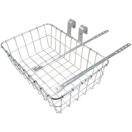 Wald Standard Front Bike Basket - Medium, Silver