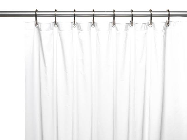 Carnation Home Fashions 10-Gauge Shower Curtain Liner - White