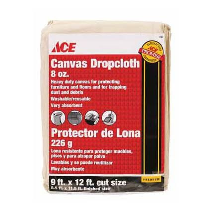 Ace Heavy Weight Canvas Drop Cloth - 9' x 12'