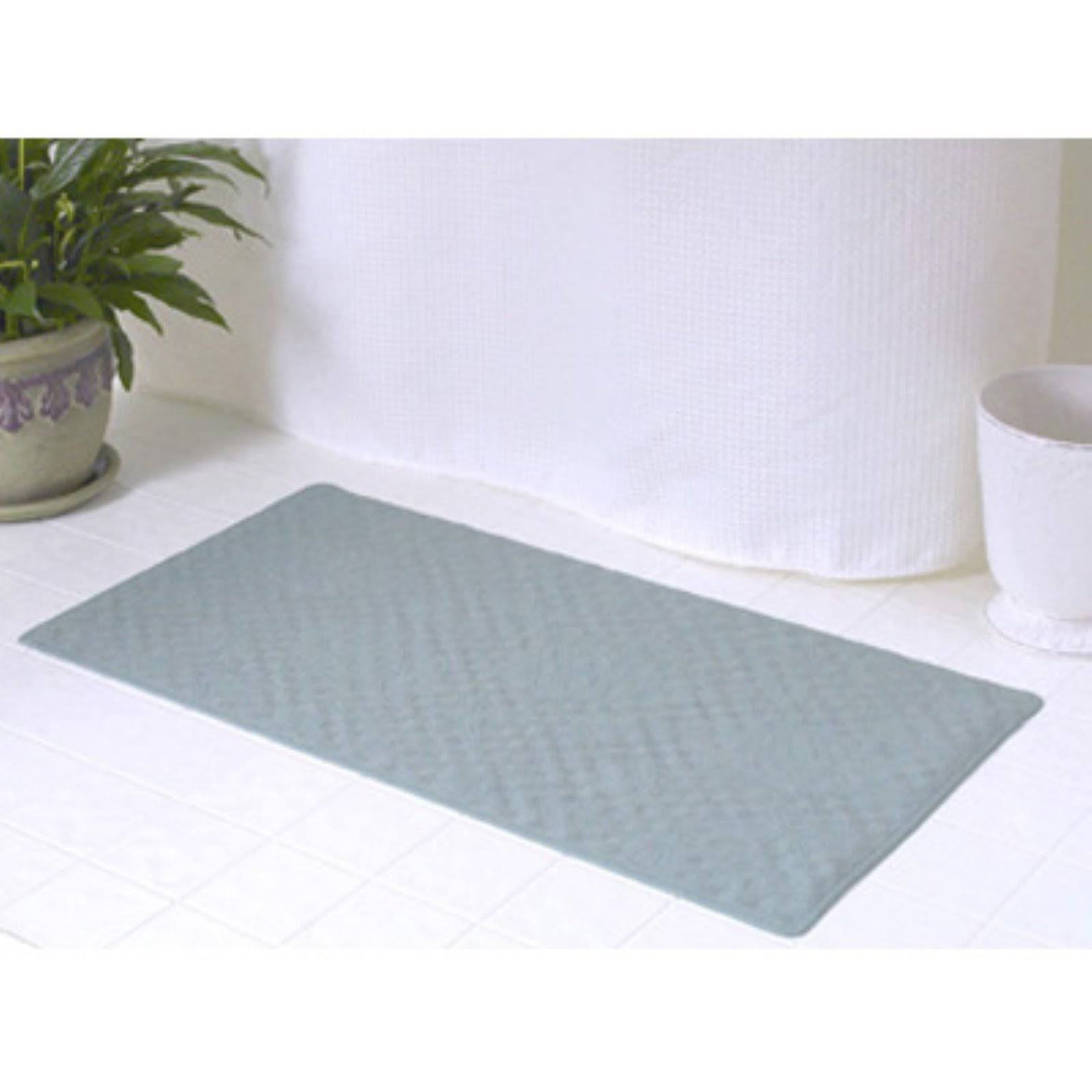 "Carnation Home Fashions Rubber Shower Mat - Sage 16"" x 28"""