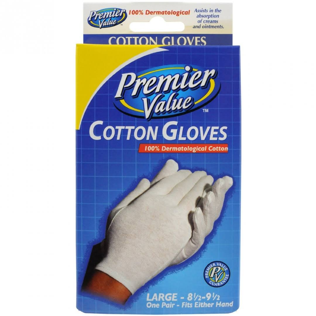 Premier Value Cotton Gloves - Large