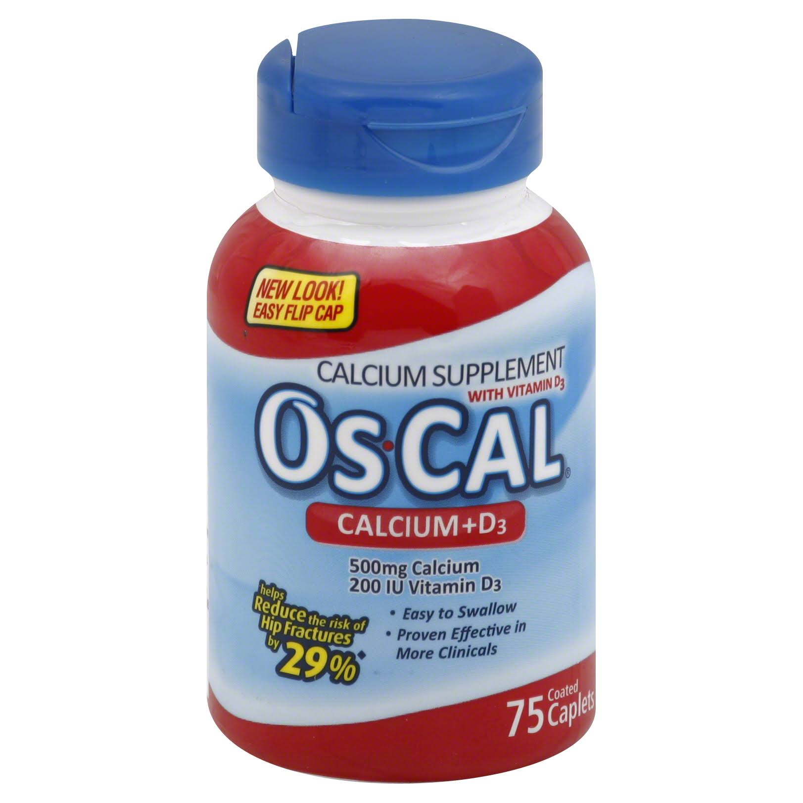 Gsk Os Cal Calcium and D3 Dietary Supplement - 75 Pack