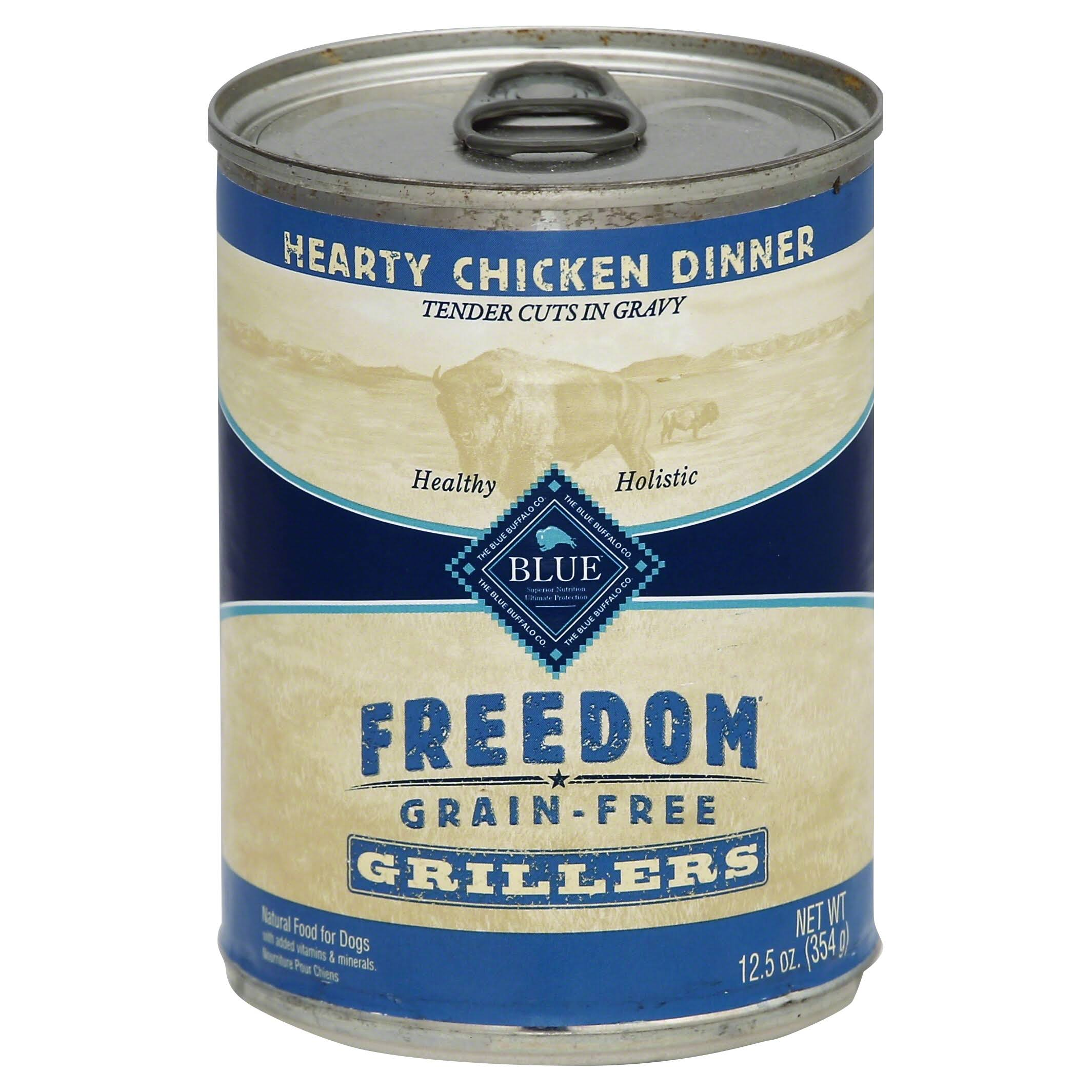 Blue Buffalo Freedom Grain Free Wet Adult Dog Food - Hearty Chicken Dinner, 12.5oz