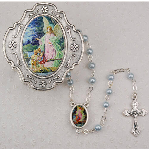 Guardian Angel Blue Rosary & Gift Box