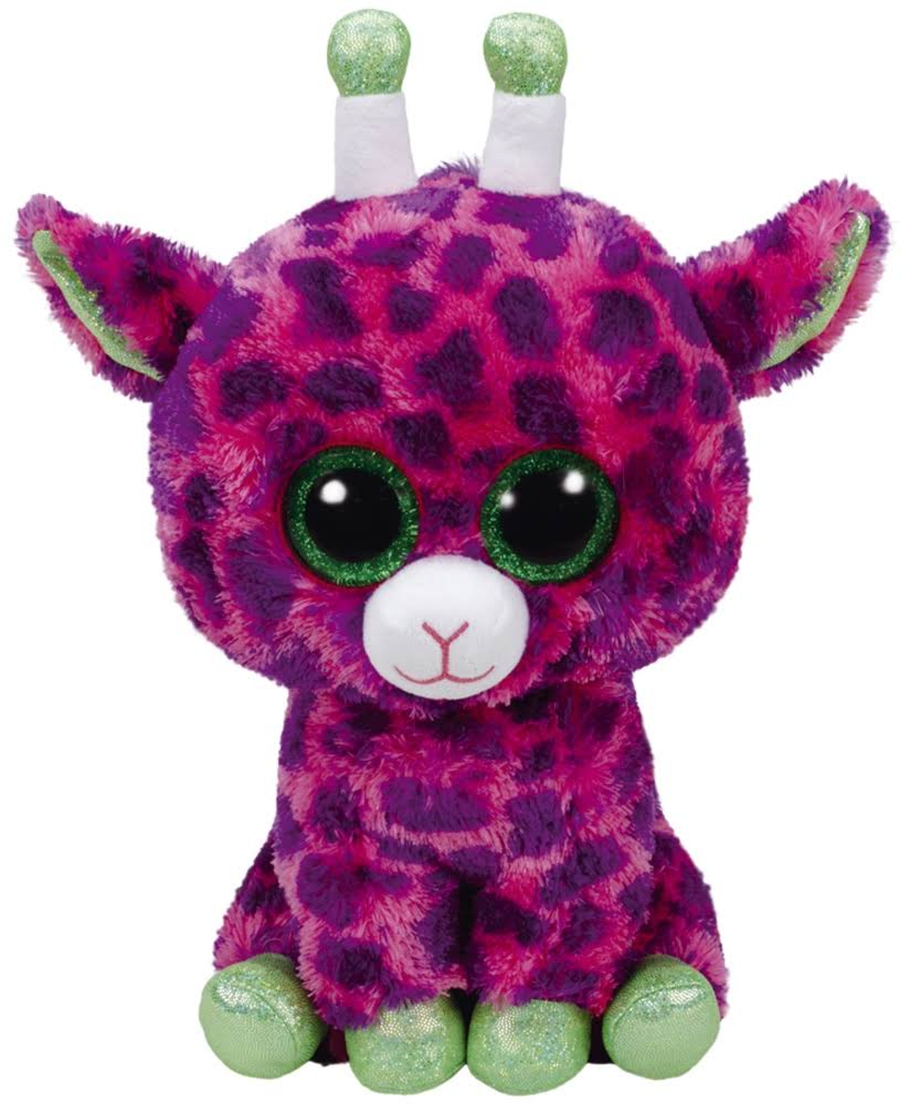 TY Beanie Boo Gilbert the Purple Giraffe Plush