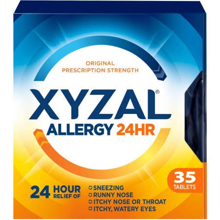 Xyzal 24 Hour Allergy Relief Tablets - 35 Tablets
