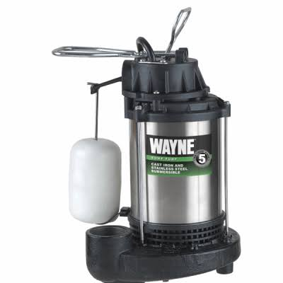 Wayne 1 Hp Stainless Steel Sump Pump - With Vertical Float Switch