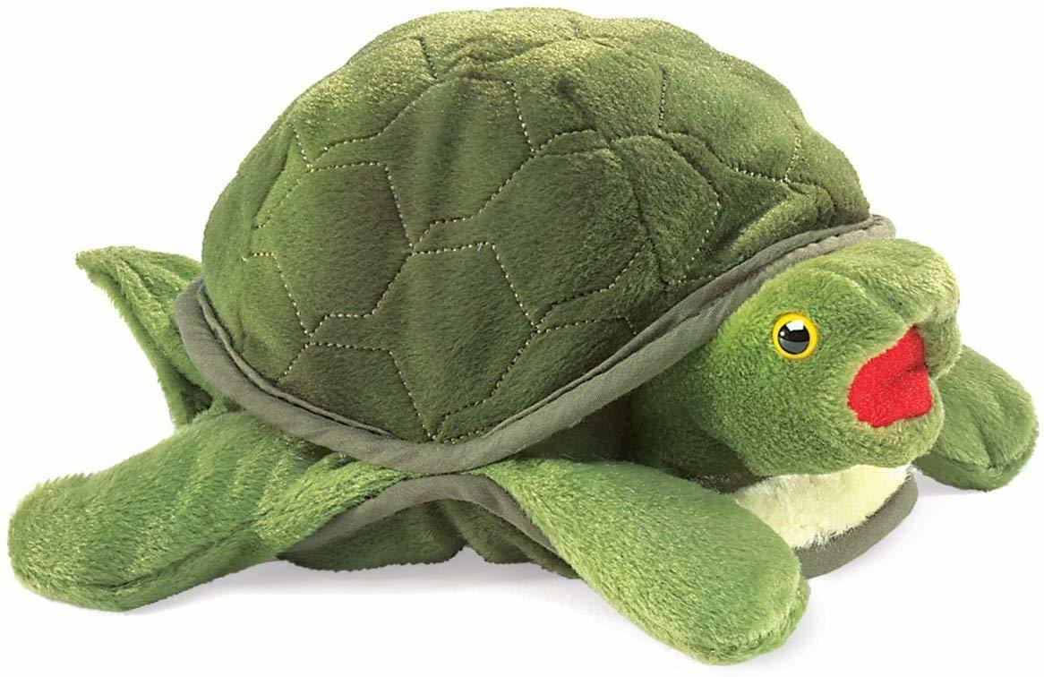 Folkmanis Baby Turtle Hand Plush Puppet - 10""