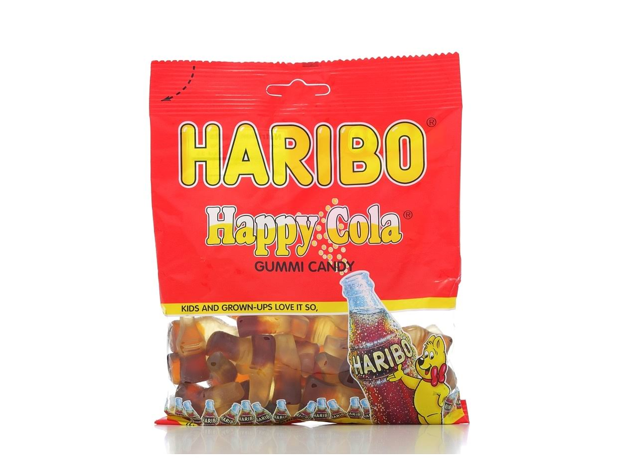 Haribo Gummi Candy - Happy Cola